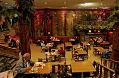 Clifton's Cafeteria in downtown LA.  Depression era cafeteria that's stuck in time.