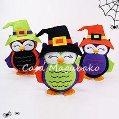 Halloween Owl Ornament Digital Pattern  von CasaMagubako auf Etsy