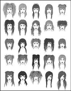 Women's Hair - Set 1 by dark-sheikah on deviantART
