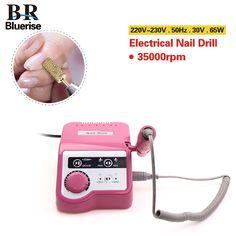 Bluerise 65W Nail Drill Nail Art Equipment EU Plug Manicure Tools Pedicure Acrylics Grey Electric Nail Drill Pen Machine Set #NailsAcrylic