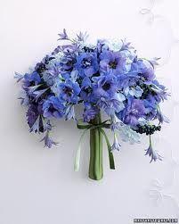 winter wedding bouquet blue