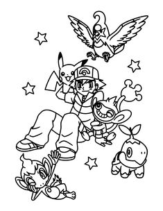 free pokemon christmas coloring pages - photo#15