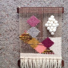 weaving by Melissa Jenkins Weaving Textiles, Weaving Art, Weaving Patterns, Tapestry Weaving, Loom Weaving, Hand Weaving, Yarn Crafts, Sewing Crafts, Diy And Crafts