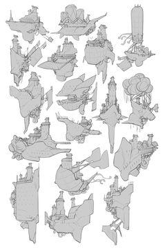 Fantasy Concept Art, Game Concept Art, Fantasy Map, Environment Concept Art, Environment Design, Spaceship Drawing, Building Drawing, Building Concept, How To Make Drawing