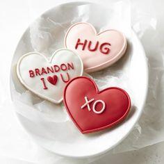 Conversation Heart Cookies #williamssonoma