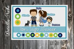 tarjetas familiares personalizadas cute family