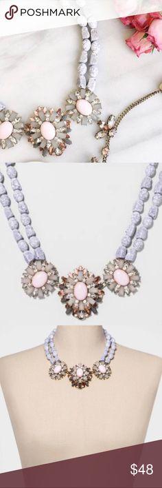 bc2d9cb72ad NWT  BAUBLEBAR  Blush Pink Statement Necklace • grey   blush crystal  statement necklace.