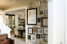 """Love this """"L"""" letter wall from Jones Design Company.  A perfect way to create a custom gallery wall."""