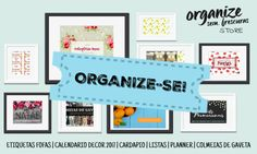 Organize-se! Listas Planners Etiquetas Cardápio e Organizadores    Organize sem Frescuras