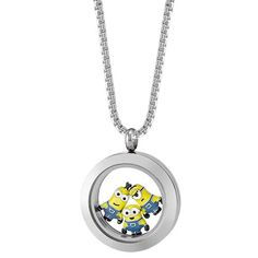 """Origami Owl  Contain the fun and zaniness that gets stirred up by this infamous Minion trio in our Silver Hinged Living Locket look! Three is never a crowd when Kevin, Stuart and Bob are around! Inspired by Illumination Entertainment and Universal Studios' beloved film franchise, Despicable Me, let these pesky yet lovable Minion """"brothers"""" bring a light-hearted touch to your everyday look! www.charmingsusie.origamiowl.com"""