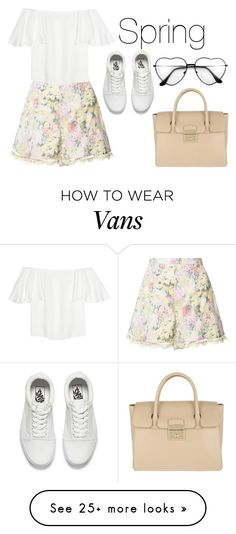 """Spring"" by mbubbles109 on Polyvore featuring Zimmermann, Valentino, Vans, Furla, Spring, Easter, springfashion and Spring2017"