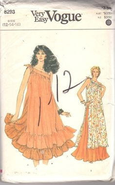 Vogue 8293 1980s Misses One Shoulder Tunic and Skirt by mbchills