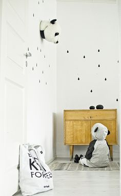 kgdesign. Childrens are so happy that they deserve a colorfull place to be in. Decorate your children room with colorfull chandeliers, and a modern bed. See more home design ideas at www.homedesignideas.eu #panda