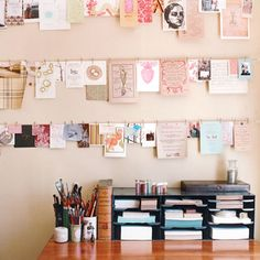 Last week was all about getting cozy and colorful when you're vegging out, and this week's all about finding the perfect workspace. Whether you work at home or at an office, the things that surround you from morning to evening are more important than you think. Here are 15 ideas for creating a productive, creative, and beautiful workspace.