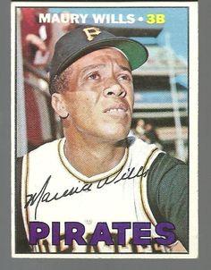 570 Maury Wills 1967 Topps Baseball Card Values, Old Baseball Cards, Football Cards, Pittsburgh Pirates Baseball, Pittsburgh Sports, Maury Wills, Perfect Game, Autographed Baseballs, Baseball Players