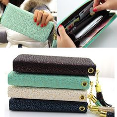 ecf3dd87da0b Women Fashion Bowknot Wallet Long Purse Phone Card Holder Clutch Large  Capacity #longpurseforladies Leather Wallet