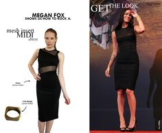 GET THE LOOK: MEGAN FOX! Mesh inserts allow you to show skin in a demure way. This particular dress is available now at our boutique - 218 Chalk Farm Road, London, NW1 8AB. Hope to see you soon!