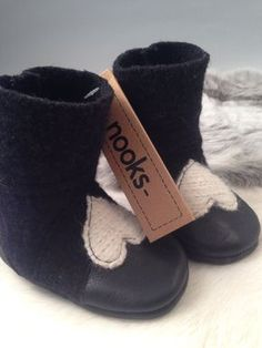 Felted wool baby booties toddler footwear toddler by NooksDesign, $37.00