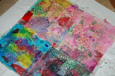 Making Paper Cloth I will try to modge podge the cheetah print tissue paper to the tan cloth and make flowers from them.