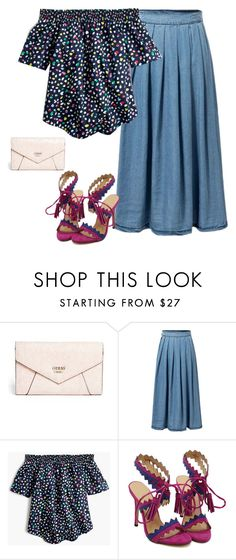 """""""Be Cute set"""" by paulina-213 ❤ liked on Polyvore featuring GUESS and J.Crew"""