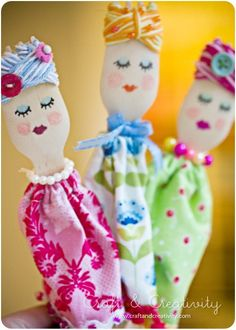 Fashion wooden spoon dolls by craftberry bush pinterest for Manualidades con madera vieja
