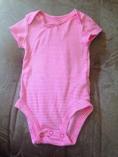 Hot pink striped onesie
