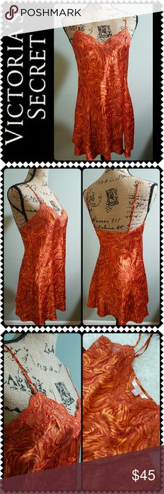 Victoria's Secret Sleepwear Night Gown New Victoria's Secret Signature Sleep Wear, Lovely Night Gown in Gorgeous Print! Adjustable Spaghetti Straps, Silky Feel All Throughout with Lace Details! New Without Tag! Victoria's Secret Intimates & Sleepwear