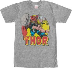 0a599f226 Mighty Thor T-Shirt - Marvel Comics T-Shirt Hammer Throw, Marvel Shirt