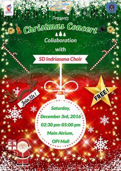 Brochure concert music christmas