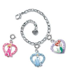 CHARM IT Disney Aurora Ariel  Cinderella Princesses Charm Bracelet Pouch Set  Pink Ribbon Carry Pouch * Read more reviews of the product by visiting the link on the image.