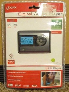 NEW  Digital Audio Player MP3 Player. GPX. 4 GB. MP3 & WMA Files. 2000 songs
