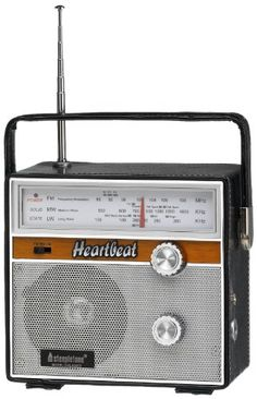 Steepletone Heartbeat 1960s Retro Style Portable Radio – Black