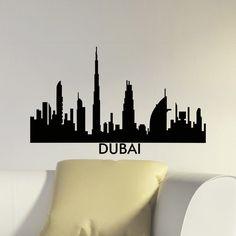 Dubai Skyline City Silhouette Vinyl Wall Art Decal Sticker