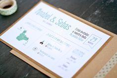Stop & Dream   Invitación de boda · Wedding card: Map