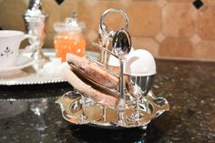 Antique English Silver Plate Toast Rack  Toast by PearlsParlor