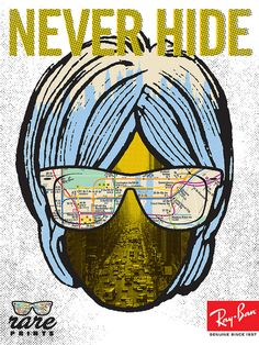 "Ray Ban ""Never Hide"" Campain by Aesthetic Apparatus"