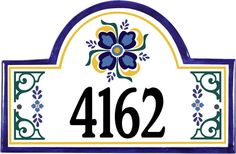 "Spanish Style Address Plaque. See all the ""one-of-a-kind"" possibilities for your home. (http://www.classyplaques.com/Spanish-Style-Address-Plaque/House-Number-Plaque/)"