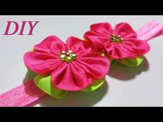 Como Hacer Lazos  DIY #83 Cintillo Floreado Tutorial - YouTube