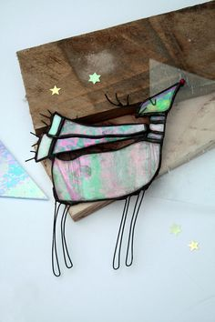 Stained Glass Christmas Rudolph by mbGlassArt on Etsy, £24.00
