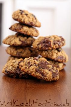 Will Cook For Friends: Chocolate Peanut Butter Oatmeal Cranberry Cookies - let me sum up: delicious!