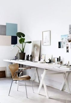apartment contemporary home office desk set with diy wall art decoration for airy scandinavian apartment plus mid century modern accent superb modern bright modern office space