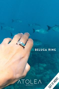 Wear our adjustable Beluga ring as a reminder that when you love yourself, everything else will fall into place. Wear these everyday, in and out of the sea.