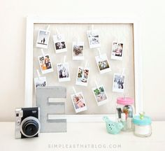 Instax Photo Display   50 Really Cool and Easy DIY Crafts For Teens   Crafts For Teens   DIY Projects for teens  DIY Crafts
