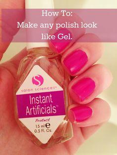 How To: Make any polish look like Gel Polish! Fake nails without the damage! No UV Lights!