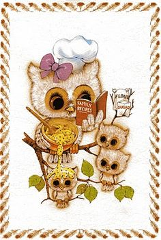 owl cook- Kristina you need this but with only 1 baby owl.