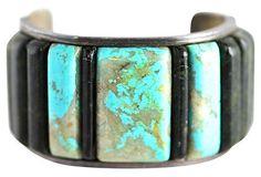 Navajo Turquoise & Epidote Bracelet