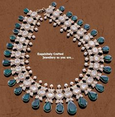 Uncut Diamond Emerald Medium Size Set