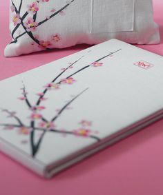 Cherry Blossom Wedding Guest Book