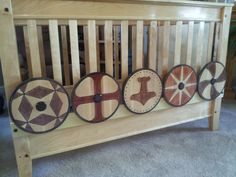 """steamaker: """" The little Viking crib is complete (thanks to my wife for sewing up the sail)! A lot of work, but I'm happy with the way it came out.  The pictures don't show it, but 5 coats of hand..."""