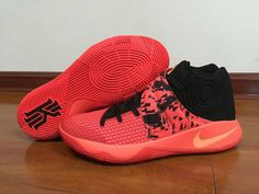 2a8f25f77456 2018 Legit Cheap Nike Kyrie 2 Bright Crimson Black Total Orange